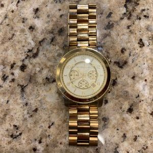 Michael Kors Gold Oversized Watch